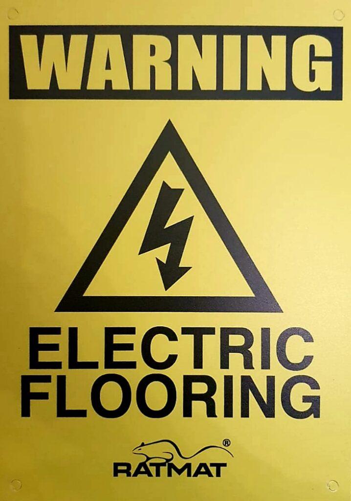 RatMat warning sign - rat control Christchurch, Dorset